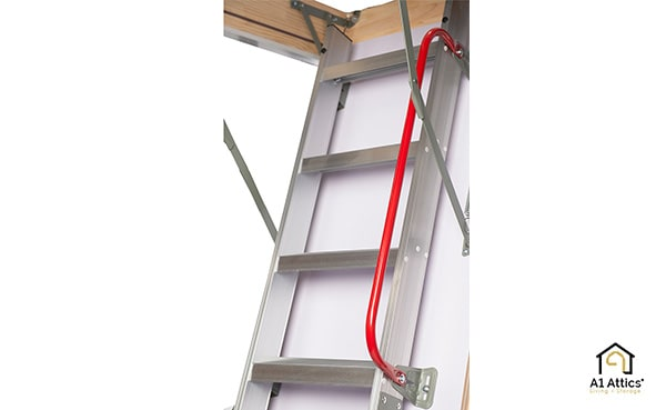 eco aluminium attic ladder hand rail