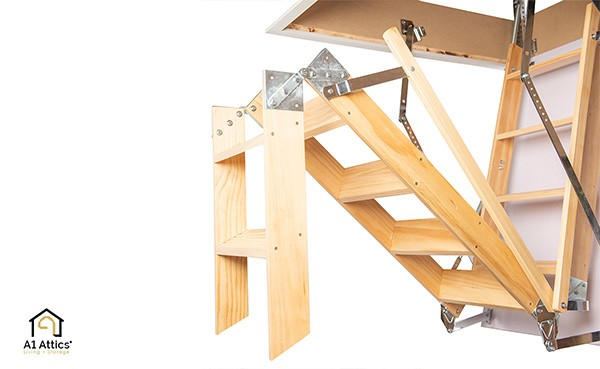 a1 attics timber attic ladder