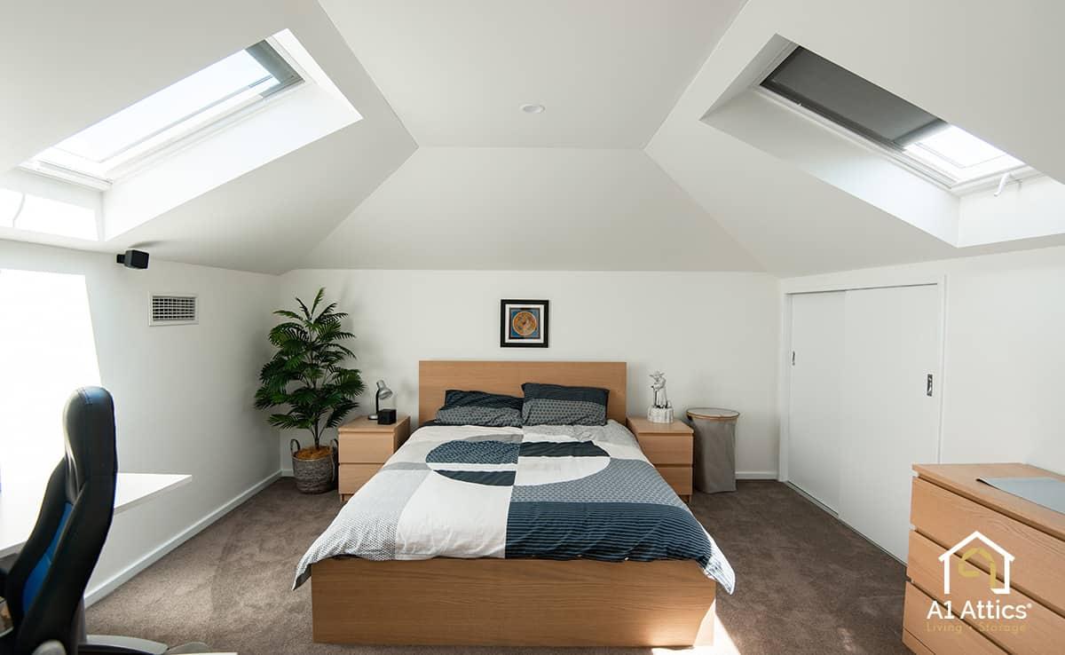attic conversion project bedroom