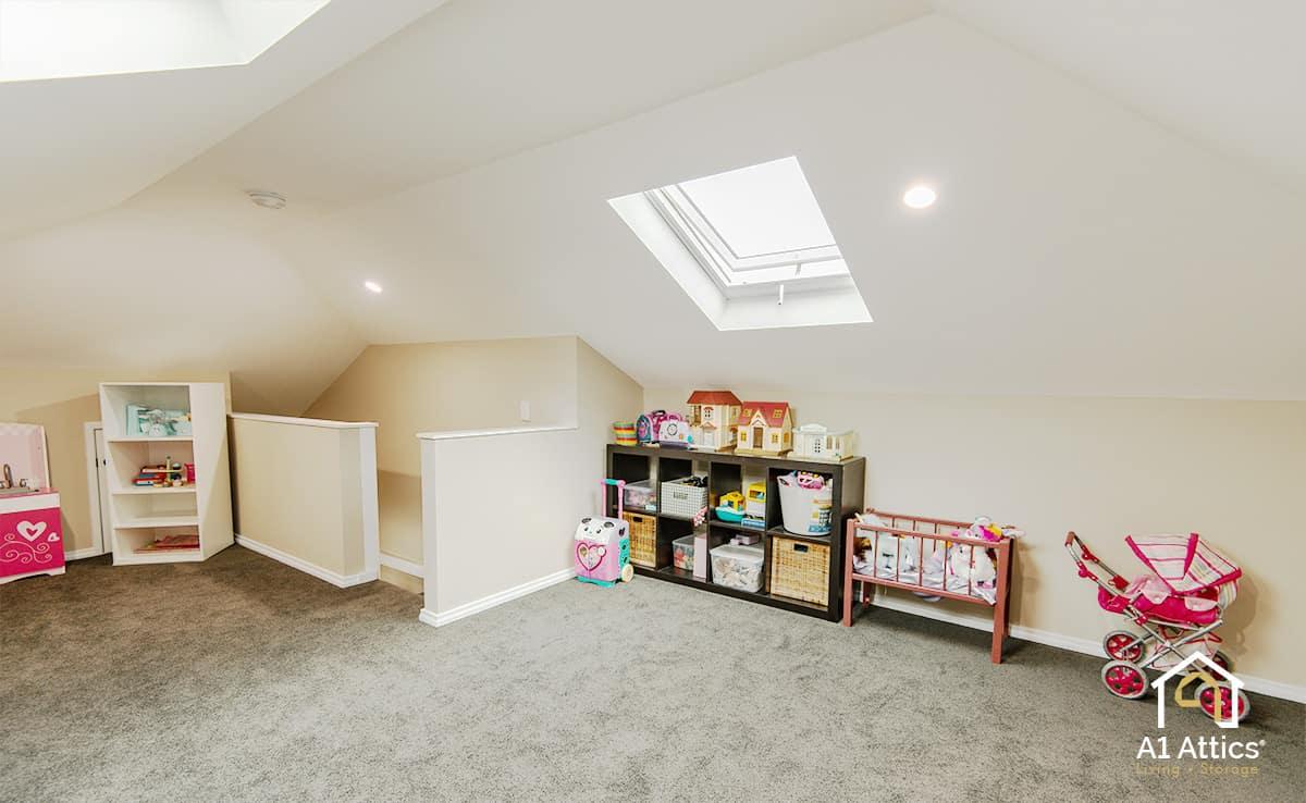 attic conversion kids playroom